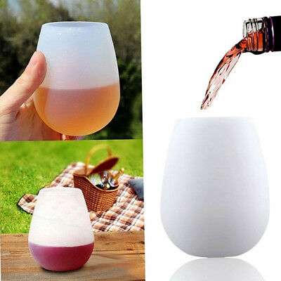 Quality Wine Cup Beer Cup Non-toxic Practical Silicone Cup Stemless Portable