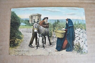 Early 1900s The Rale Blarney Donkey Post Card