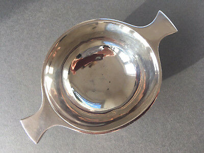 1930 Antique Art Deco Scottish Edinburgh Solid Sterling Silver Quaich, Cup, Bowl