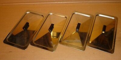 Set of 4 x Original Lids for Glasbake Hostess Trolley Dishes 24cm x 12.5cm