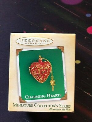 2004 Charming Hearts #2 in Series Hallmark Miniature Ornament