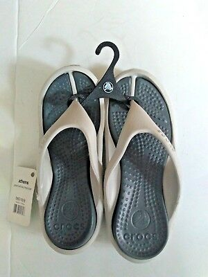 Crocs-Unisex-Athens style-Pearl White/Charcoal-NWT-Free Shipping