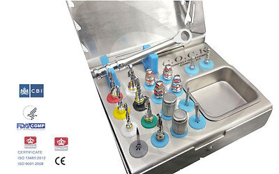 Dental Implant Compact Organized Conical Drills Kit / Professional Surgery Kit p