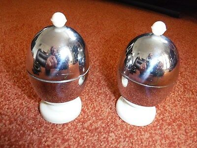 VINTAGE KOZY CRAFT EGG WARMERS [chrome] FROM THE 50s