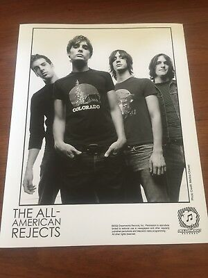 RARE 2002 Original Press Photo of The All American Rejects a Rock Band 8 x 10