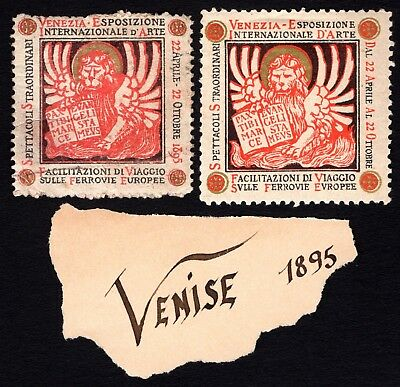 Italy 1895 Cinderella Exposition Poster stamps MH