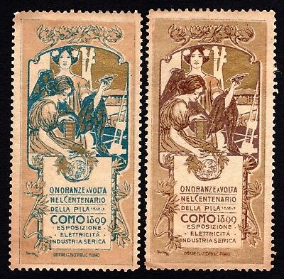 Italy 1899 Cinderella Exposition Poster stamps MH