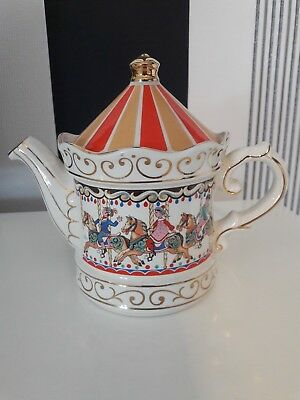 Sadler Character Tea Pot, Carousel, in perfect condition