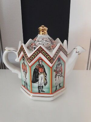 Sadler character tea pot, the Battle of Waterloo, made in Staffordshire