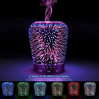Aromatherapy Oil Diffuser SZTROKIA 180ml Essential Ultrasonic Cool Mist with 3D