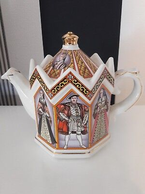 Sadler tea pot, in perfect condition, King Henry VIII and his 6 wives