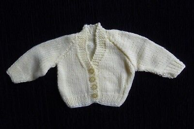 Baby clothes UNISEX GIRL BOY premature/tiny<6lbs/2.7kg NEW! yellow soft cardigan