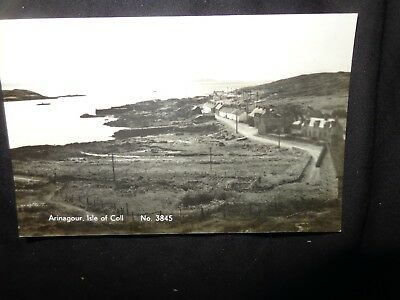 ARINAGOUR BAY: Isle of Coll postcard  REAL PHOTO C1960 TT