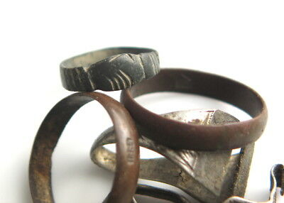 Roman clasped hands ring and 19th century jewellery relic antique vintage rings