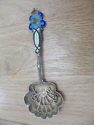 Beautiful Old Sterling Silver Souvenir Spoon Of Canada