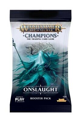 Warhammer Age of Sigmar Champions Wave 2 Onslaught Single Booster PlayFusion New