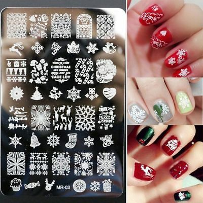 Stamping Plates Nail Art Image Stencil Manicure Tools Snowflake Stamp Plates