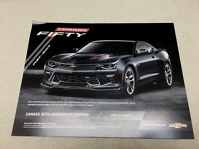 2017 Chevrolet Camaro 50Th Anniversary Brochure New