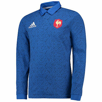 France Rugby Supporters Shirt Long Sleeve Mens adidas