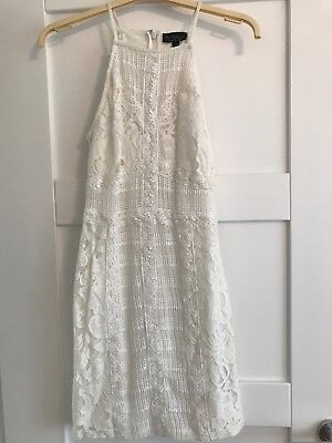 TOPSHOP ladies lace white Ivory dress size 8