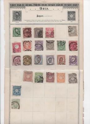 lf143 Japan 3 sides  album page 50  stamps mixed condition