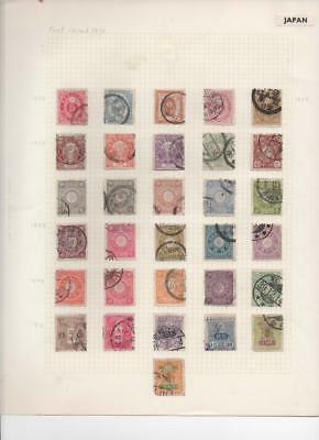 lf144 Japan 2 sides  album page 44  stamps mixed condition