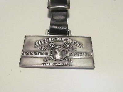John Deere Agricultural Implements Watch Fob with Strap, Old Logo
