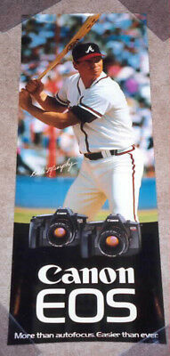 DALE MURPHY Canon Cameras Atlanta Braves Promo Poster MURF Shoppers MUST L@@K