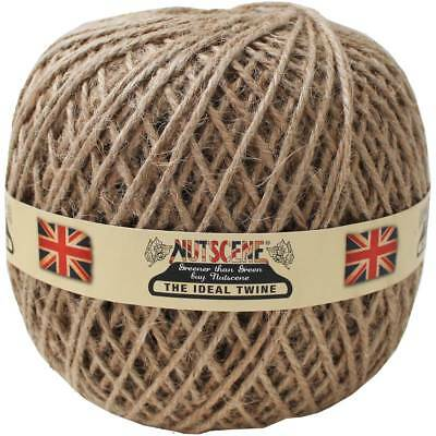 Thick Jute Twine - NATURAL 4 PLY - Garden String, Craft and Gift - UK SELLER