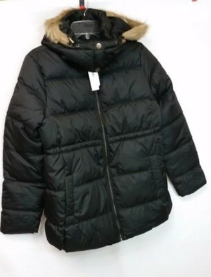 Old Navy Puffer Jacket, Frost Free, Womens Maternity, S, Black Faux Fur rim,NWT