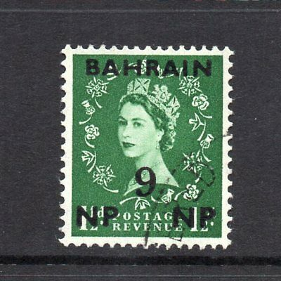 Bahrain - 1957-59, 9np on 1½d Green (sg105) Used