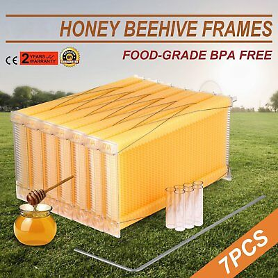 7PCS Upgraded Auto Flow Honey Beekeeping Beehive Bee Comb Hive Frames Harves ASD