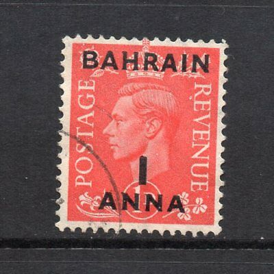 Bahrain - 1948-49, 1a on 1d Pale Scarlet (sg52) Used