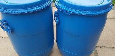 2 x Plastic Drum Keg Oil Storage  Barrel   Containers Water 60ltr