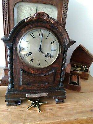 Antique Mantle Clock, gwo, with presentation plaque on