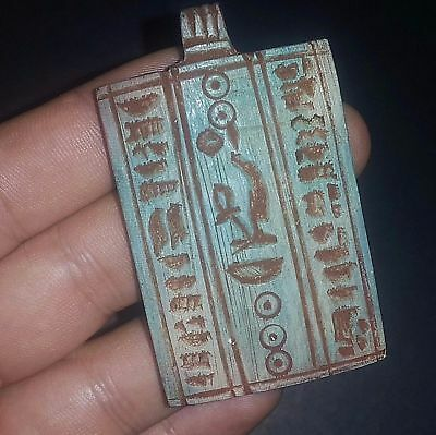 Rare Ancient Egypt Egyptian Antique talisman Amulet b New Kingdom (1549–1069BC