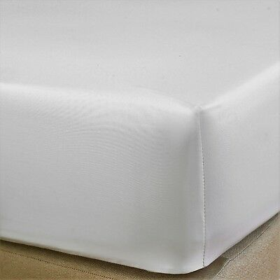 "Extra Deep Fitted Sheet 16""/40CM 100% Egyptian Cotton 400TC White  all sizes"