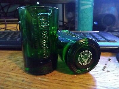2 Green Jagermeister Shot Glasses - New/Never used