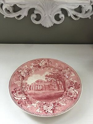 Wedgewood Collector's Monticello Plate H.H. Hankins co.