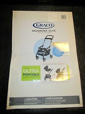 New Graco Snugrider Elite Stroller Car Seat Carrier Black Click Connect Classic