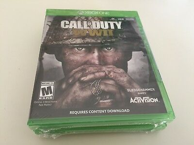 Call of Duty: WWII (Microsoft Xbox One, 2017) WITH DOG TAG NEW