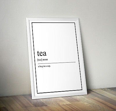Tea lover Definition Print, Home Decor, Minimalist Poster, Wall Art, Poster gift