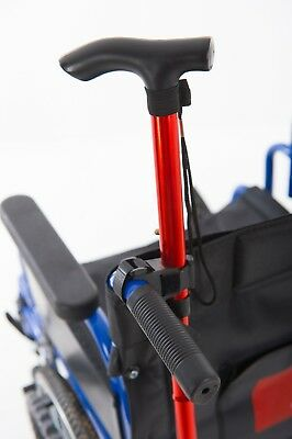 Walking Stick Crutch Holder. Universal velcro fit Wheelchairs or Walking frames