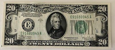 $20 1934 C Frn Richmond Va Federal Reserve Note Currency Fr 2057-E