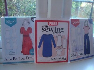 Job lot of 3 patterns  including two Simple Sew patterns