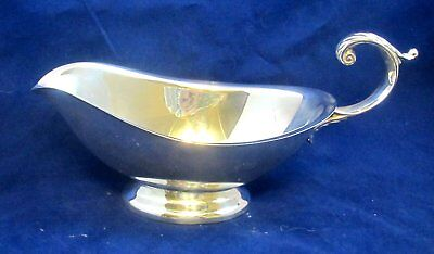 Reed & Barton #3 Elegant Silverplate Holloware Gravy / Sauce Boat