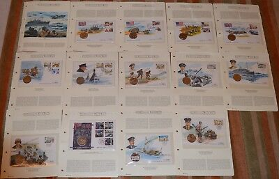 D Day WWII History of World War II Bulk Job Lot Coin First Day Cover Collection