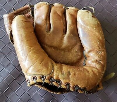 Vintage Antique MacGregor Baseball Glove Mitt Ralph Kiner Model G113 VTG USA
