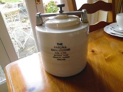 Vintage Pascall Engineering Crawley pottery  Ball milling container