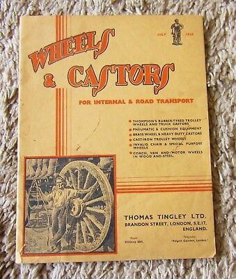 Wheels & Castors For Internal/ Road Transport Price Catalogue 1945 Trolleys-Cars